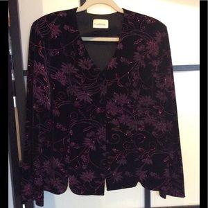 🥰3/25 Tradition fuchsia/black sparkle jacket.Sz16